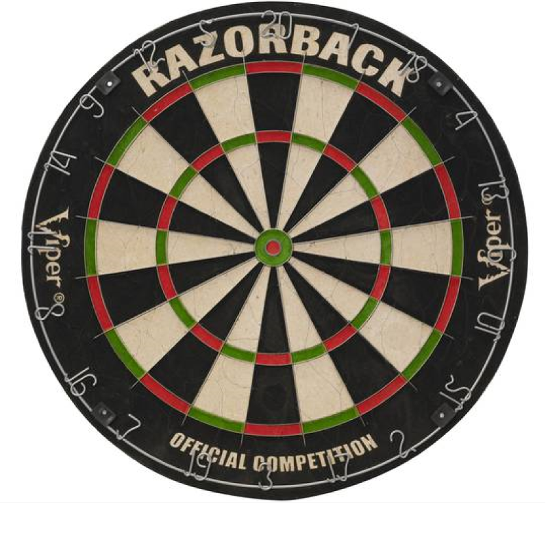 Viper Razorback Sisal Dartboard Pub Knights Beer Darts Game